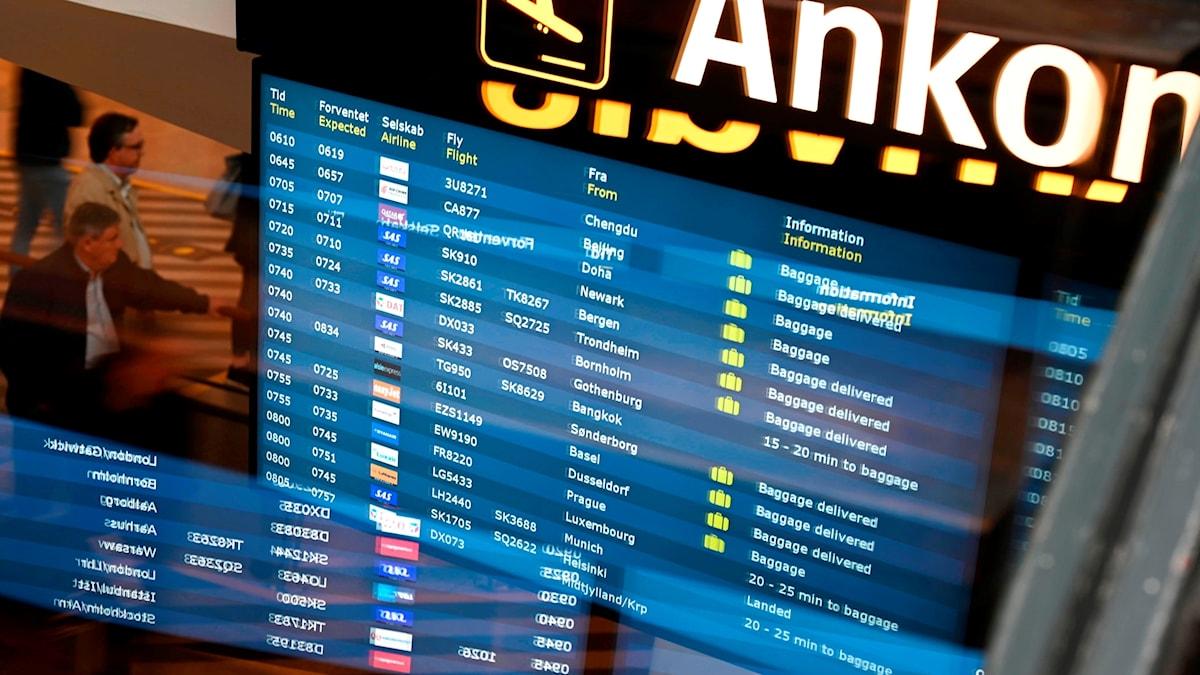 I samband med pilotstrejken ställs flera Sas-flyg in