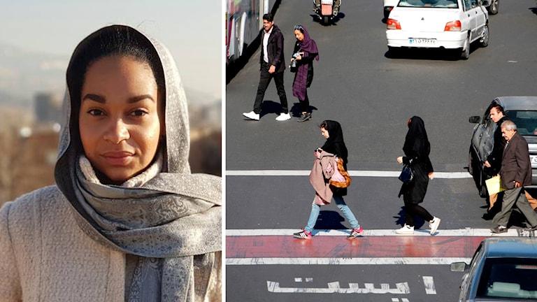Sverige Radios korrespondent Palmira Koukkari Mbenga på plats i Teheran.
