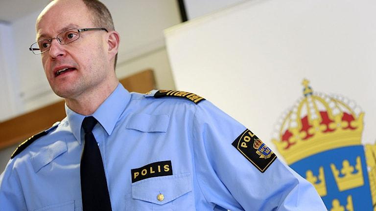 Länspolismästaren i Stockholm Mats Löfving. Foto: Fredrik Persson/Scanpix.