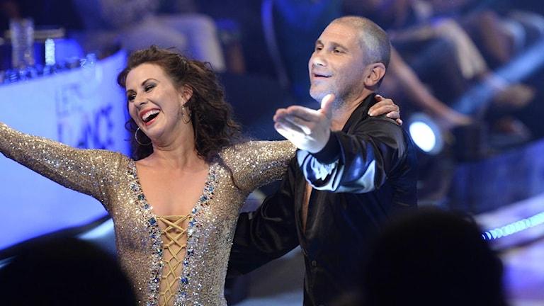 Finalparet Markoolio och Cecilia Ehrling under Let's Dance på TV4. Foto: Maja Suslin/Scanpix