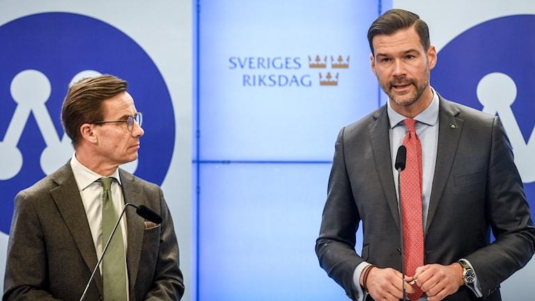 Ulf Kristersson och Johan Forssell.