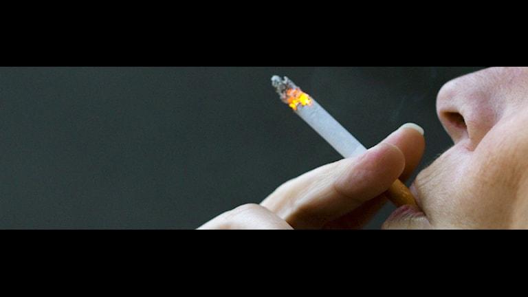Kvinnlig rökare. Foto: Berit Roald/Scanpix