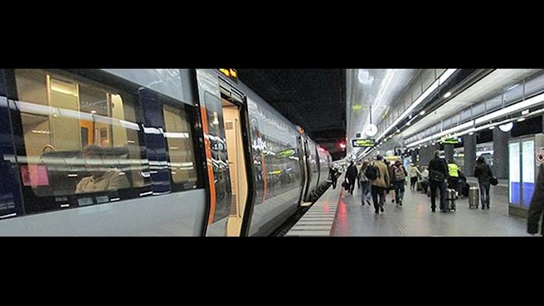 Öresundståg i Malmö. Foto: Anna Bubenko/Sveriges Radio