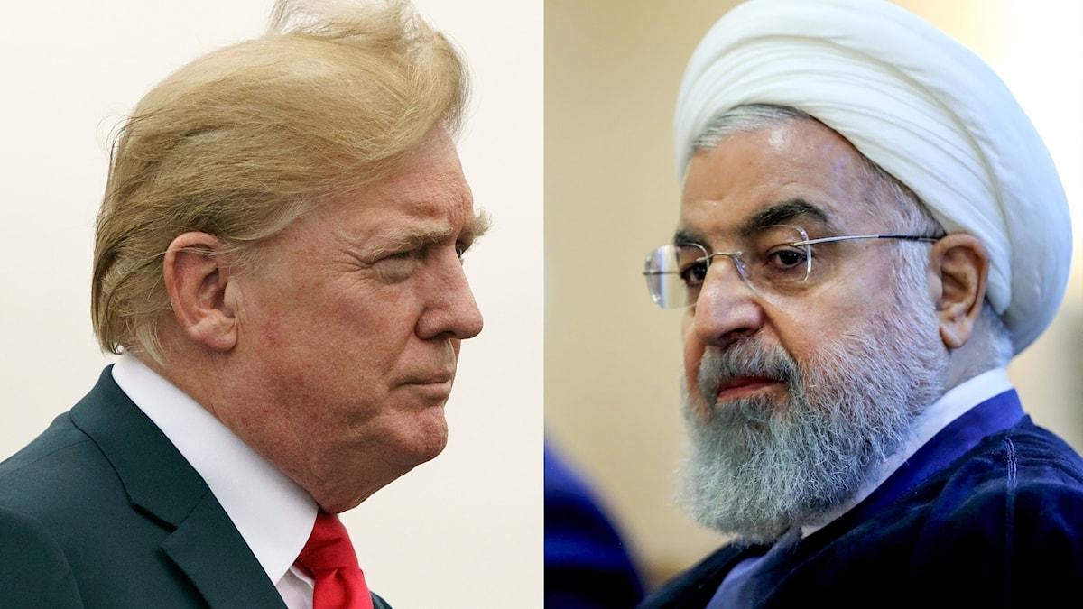 Donald Trump och Hassan Rouhani