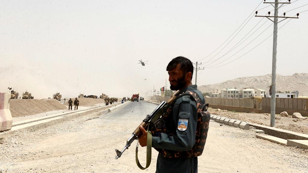 En afghansk polisman.