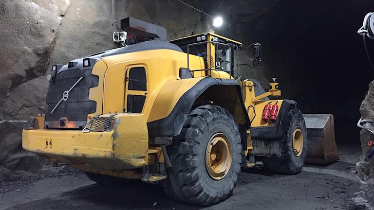 Hjullastare i Kankberggruvan