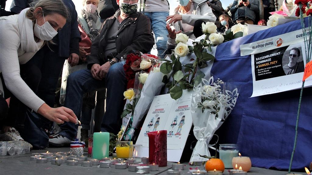Lärare dödades av extremist i Frankrike