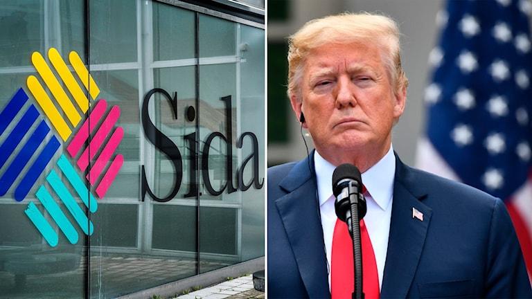 Den svenska biståndsmyndigheten Sida och USA:s president Trump