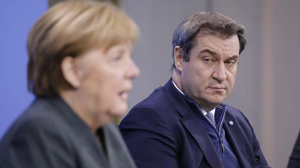 Angela Merkel och Markus Söder.