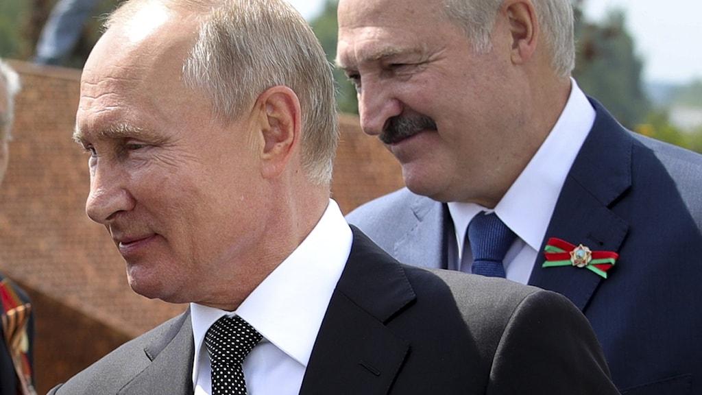 Rysslands president Vladimir Putin och Belarus ledare Alexander Lukasjenko