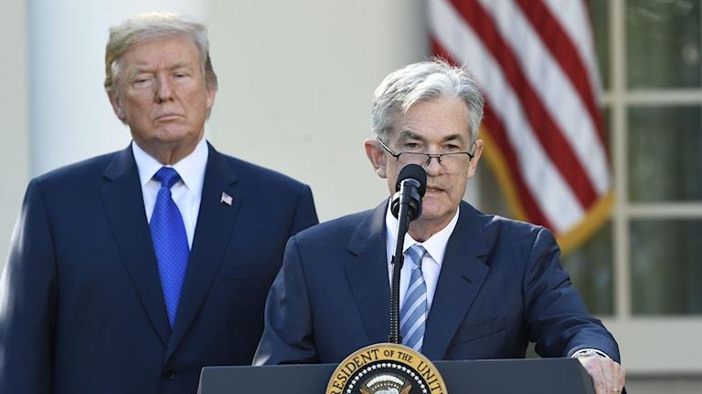 President Trump nominerar Jerome Powell till ny centralbankschef