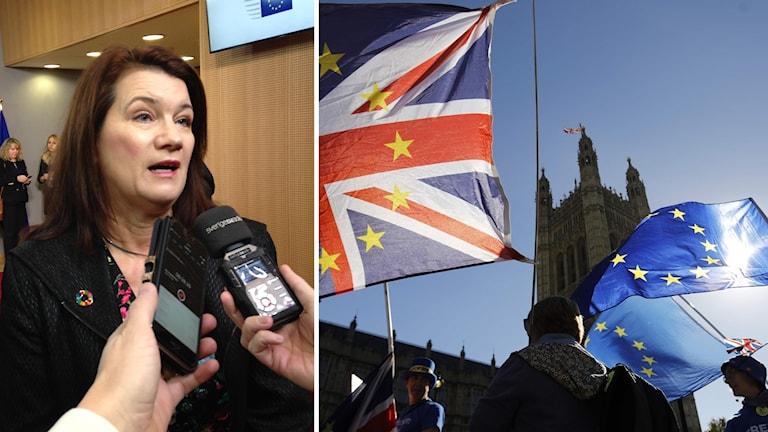 EU- och handelsminister Ann Linde.