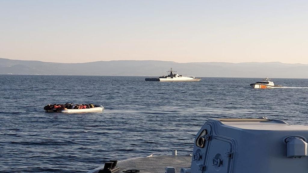 Migrantbåt.