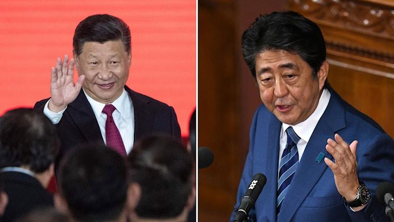 Shinzo Abe och Xi Jinping