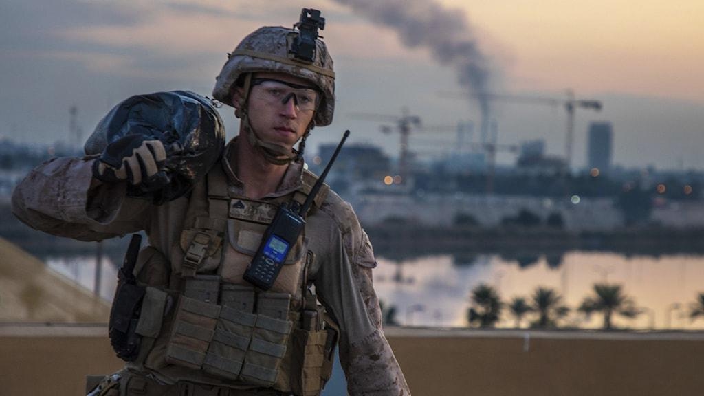 Amerikansk soldat, Bagdad, Irak
