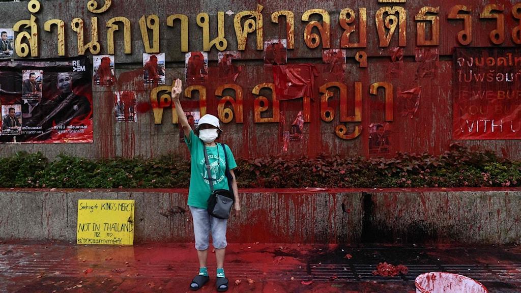 Pro-demokratiledare nekas borgen i Thailand