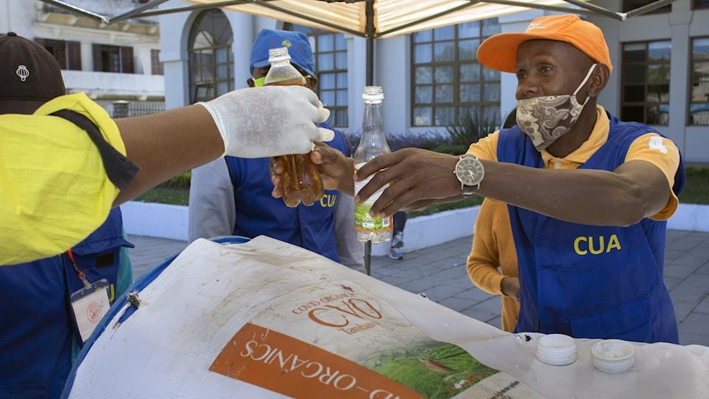Virus Outbreak Madagascar Herbal Drink