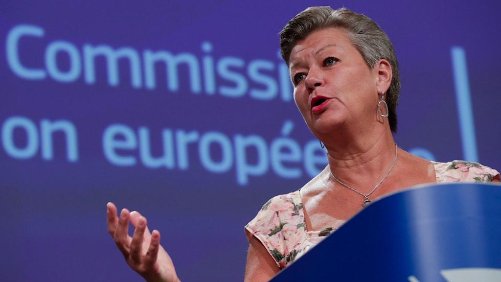 Ylva Johansson (S), EU:s migrationskommissionär.