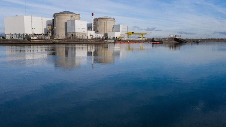 Kärnkraftverket Fessenheim i Frankrike på gränsen till Tyskland.
