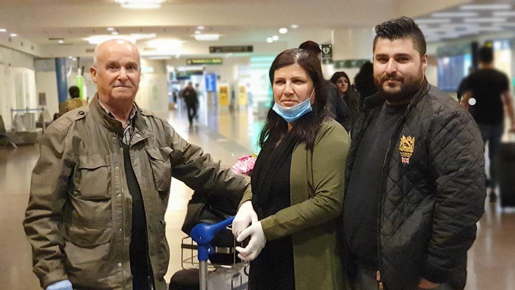 Från vänster: Hassan Ahmad, Sabihe Saleh, och Miran Abbas.