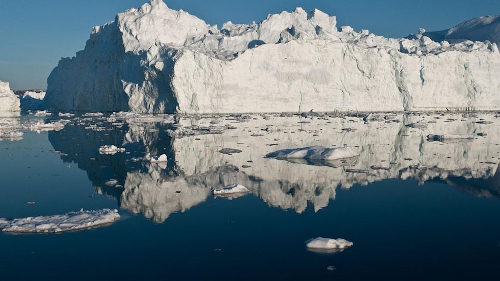 Smältande glaciär. Foto: Ian Joughin/TT.