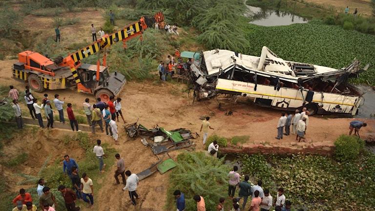 Busskrasch i Indien