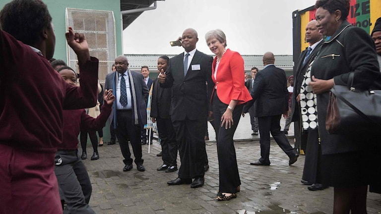 Theresa May i Sydafrika
