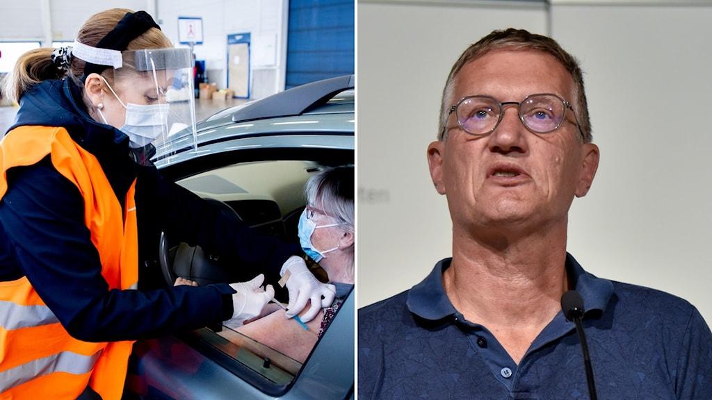 Vaccin i bil och Anders Tegnell