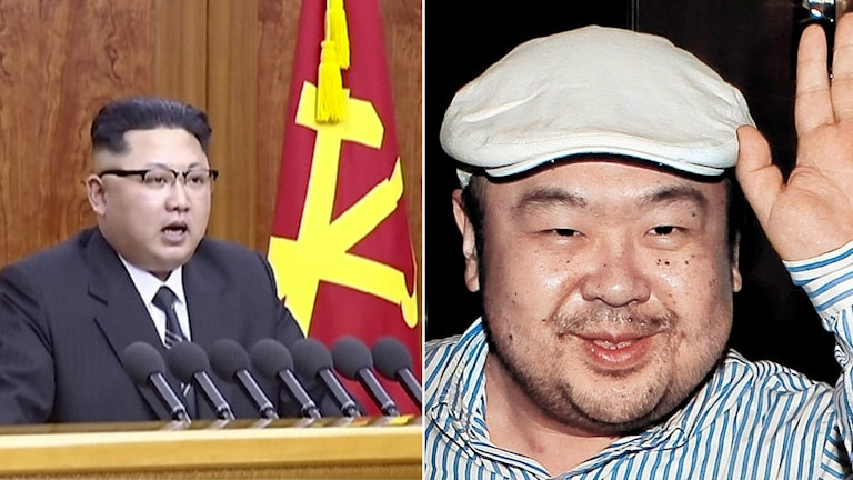 Nordkoreanska diktatorn Kim Jong-Un och hans halvbror Kim Jong-Nam