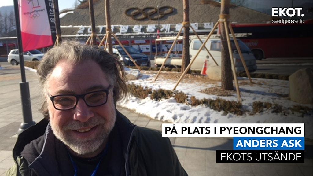 Ekots utsände, Anders Ask, i Pyeongchang