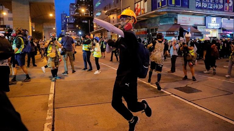 Fortsatta protester i Hongkong.