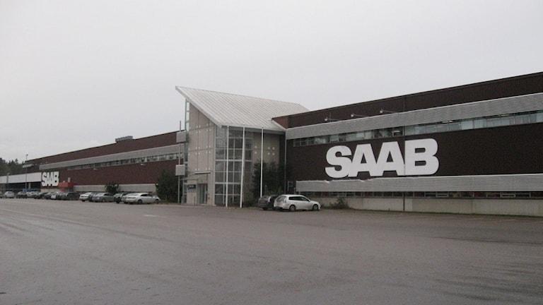 Saabs reservdelslager i Nyköping.