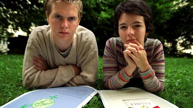 Gustav Fridolin och Zaida Catalán från tiden från Gröna Ungdom