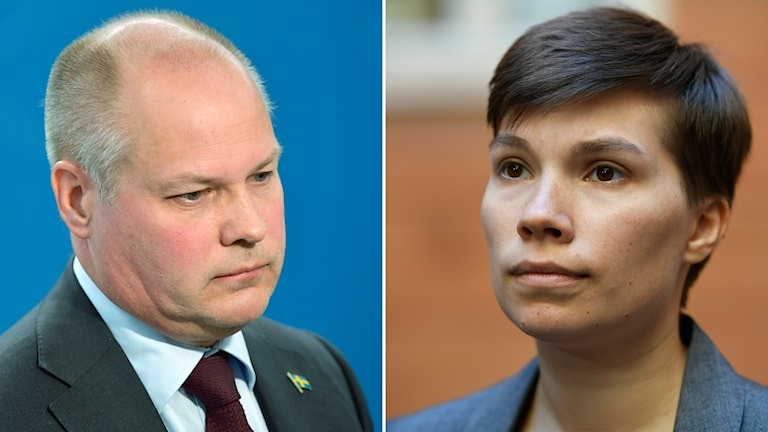 Justitieminister Morgan Johansson (S) och Miljöpartiets migrationspolitiska talesperson Annika Hirvonen