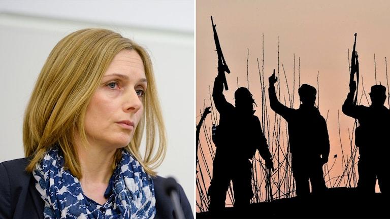 Linda Thörnell, chef för NCT, och tre män med vapen.