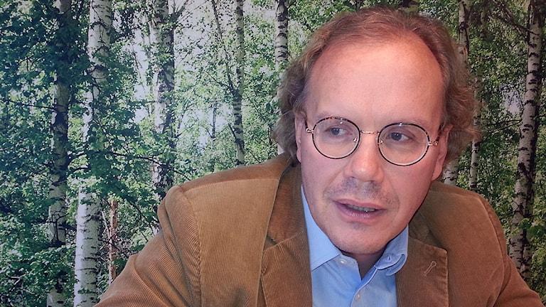 Chefsåklagare Martin Tidén vid finansmarknadskammaren på Ekobrottsmyndigheten. Foto: Anders Jelmin/Sveriges Radio.