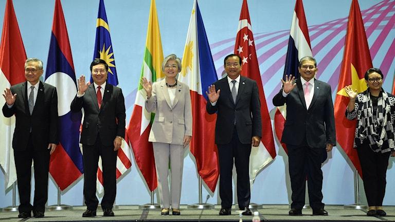 Ministrar på rad under årets Asean-möte