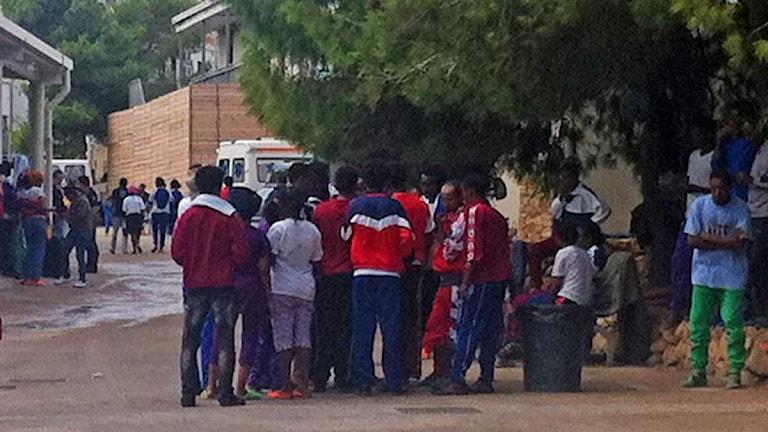 Mottagningscentret för överlevande på Lampedusa.
