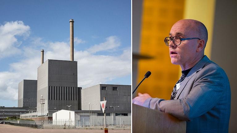 Kärnkraftsverket Barsebäck och professor John Hassler.