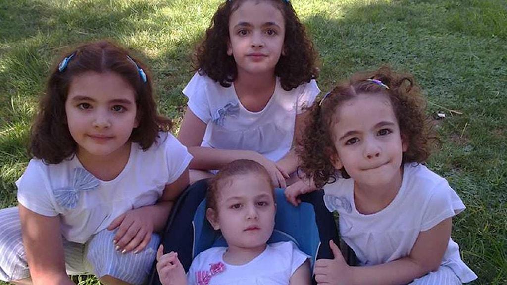 Sohas fyra döttrar. Foto: Sveriges Radio båtflyktingar Alexandria