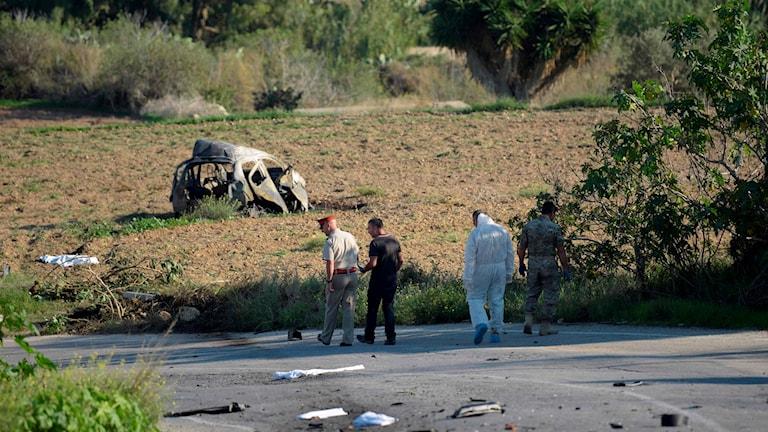 Journalisten Daphne Caruana Galizia har dödats i en bilbomb.