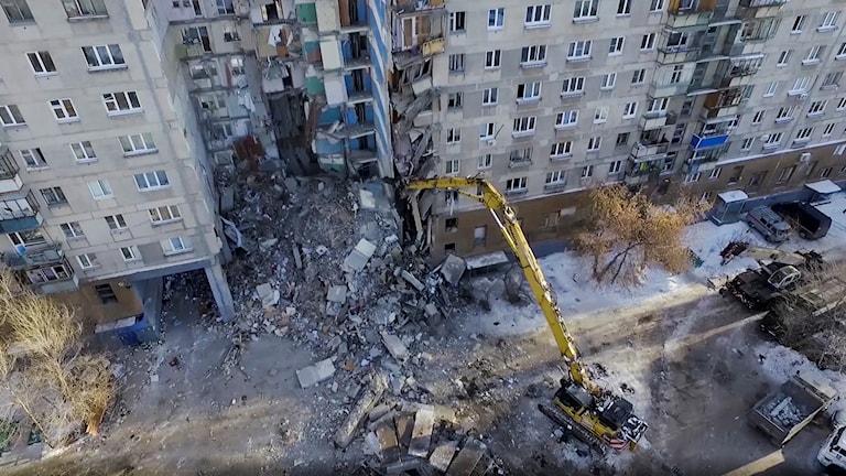 Ryssland husras Magnitogorsk