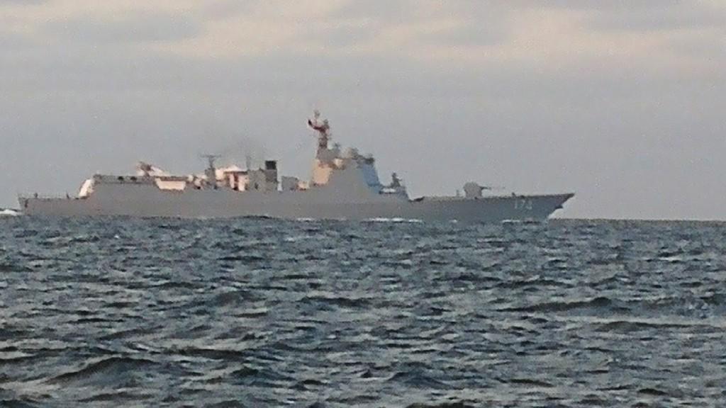 Kinesiskt militärfartyg