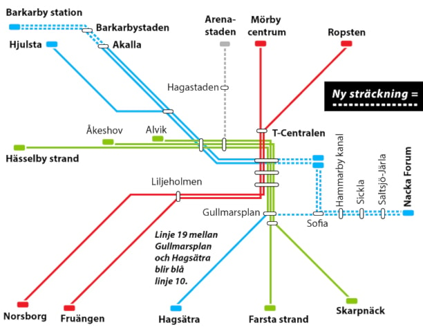 Tunnelbanan utbyggd 3