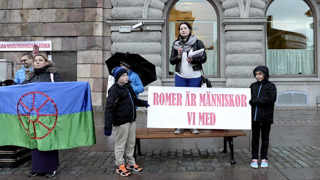 Romer protesterar Foto: Pontus Lundahl/TT.