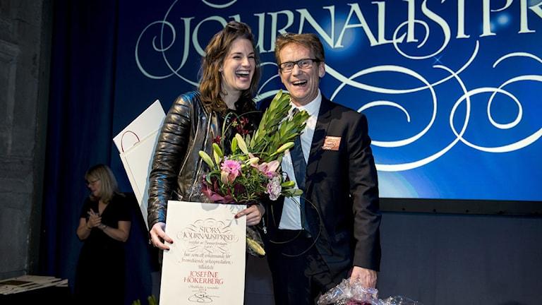 Josefine Hökerberg och Roger Turesson. Foto: Pontus Lundahl/TT