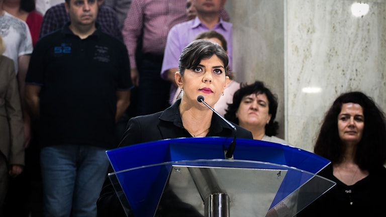Laura Codruta Kovesi, före detta chefsåklagare för det rumänska antikorruptionsdirektoratet.