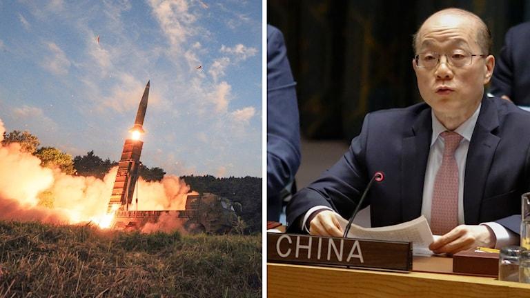 Sydkoreansk provskjutning och den kinesiske FN-ambassadören Liu Jieyi