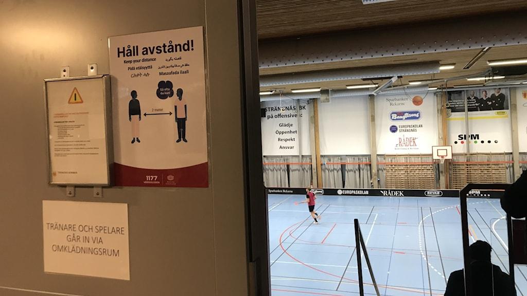 Bild från träningshall
