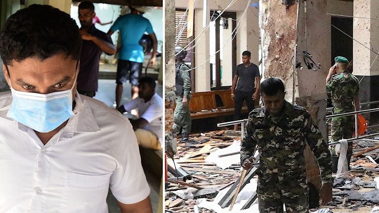 Läkare och försvarsmakt efter dåden i Sri Lanka